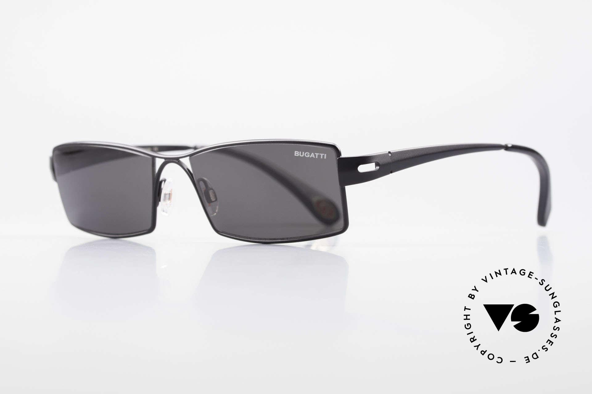 Bugatti 499 Rare XL Designersonnenbrille, optimaler Tragekomfort dank Feder-Scharnieren, Passend für Herren
