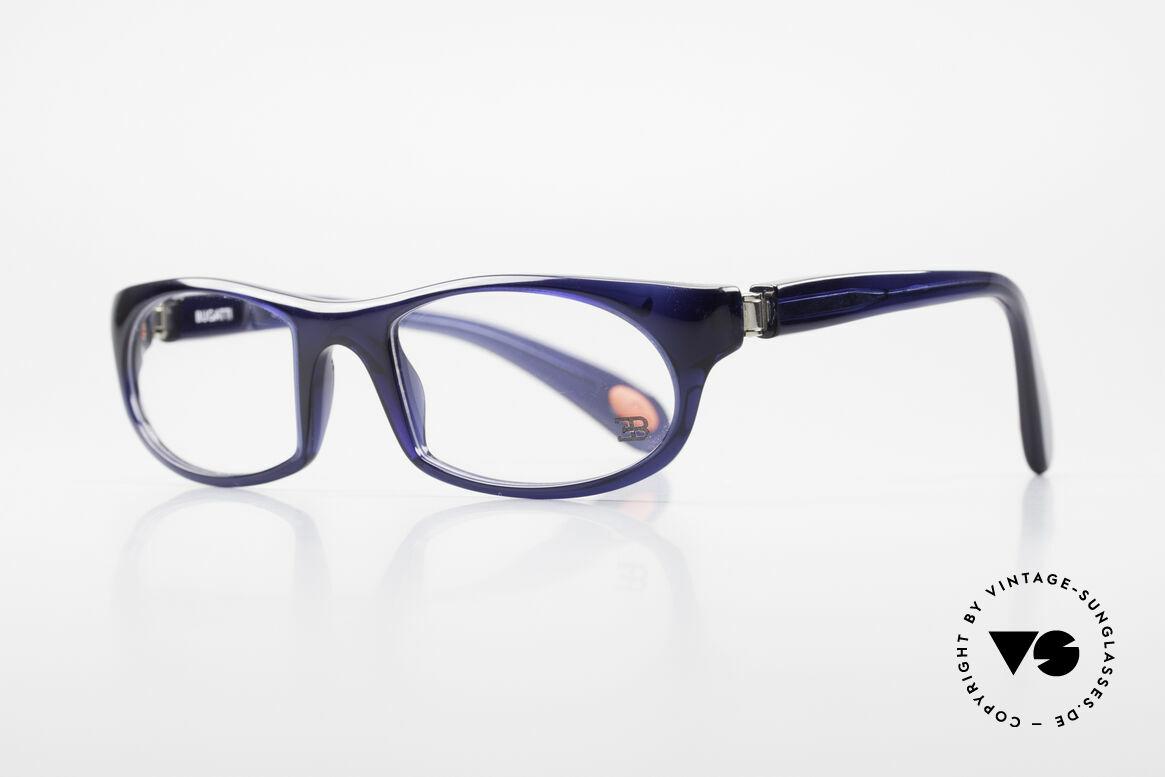 Bugatti 326 Odotype Echte Vintage Designer Brille, ergonomischer Rahmen mit 180°-Scharnieren, Passend für Herren
