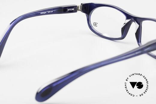 Bugatti 326 Odotype Echte Vintage Designer Brille, Rahmen in kräftigem Blau und mit orig. Etui, Passend für Herren