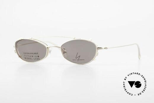 Yohji Yamamoto 52-9011 Clip On Titanium Brille GP Details