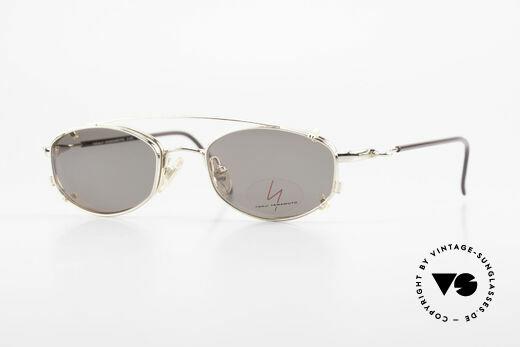 Yohji Yamamoto 51-7211 Vergoldete Vintage Clip Brille Details