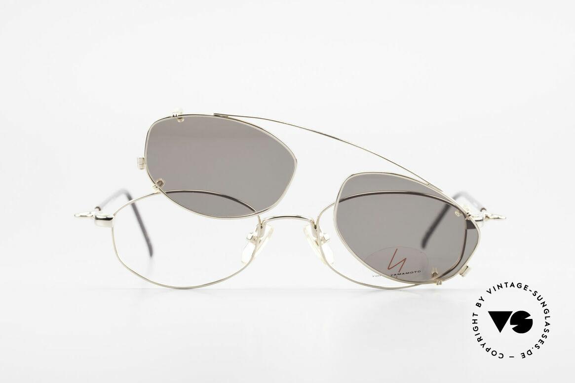 Yohji Yamamoto 51-7211 Vergoldete Vintage Clip Brille