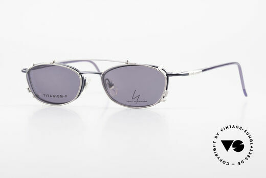 Yohji Yamamoto 51-0013 Clip On Titanium Brille Blau Details