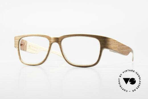 Rolf Spectacles Jupiter 54 XL Brille Komplett aus Holz Details