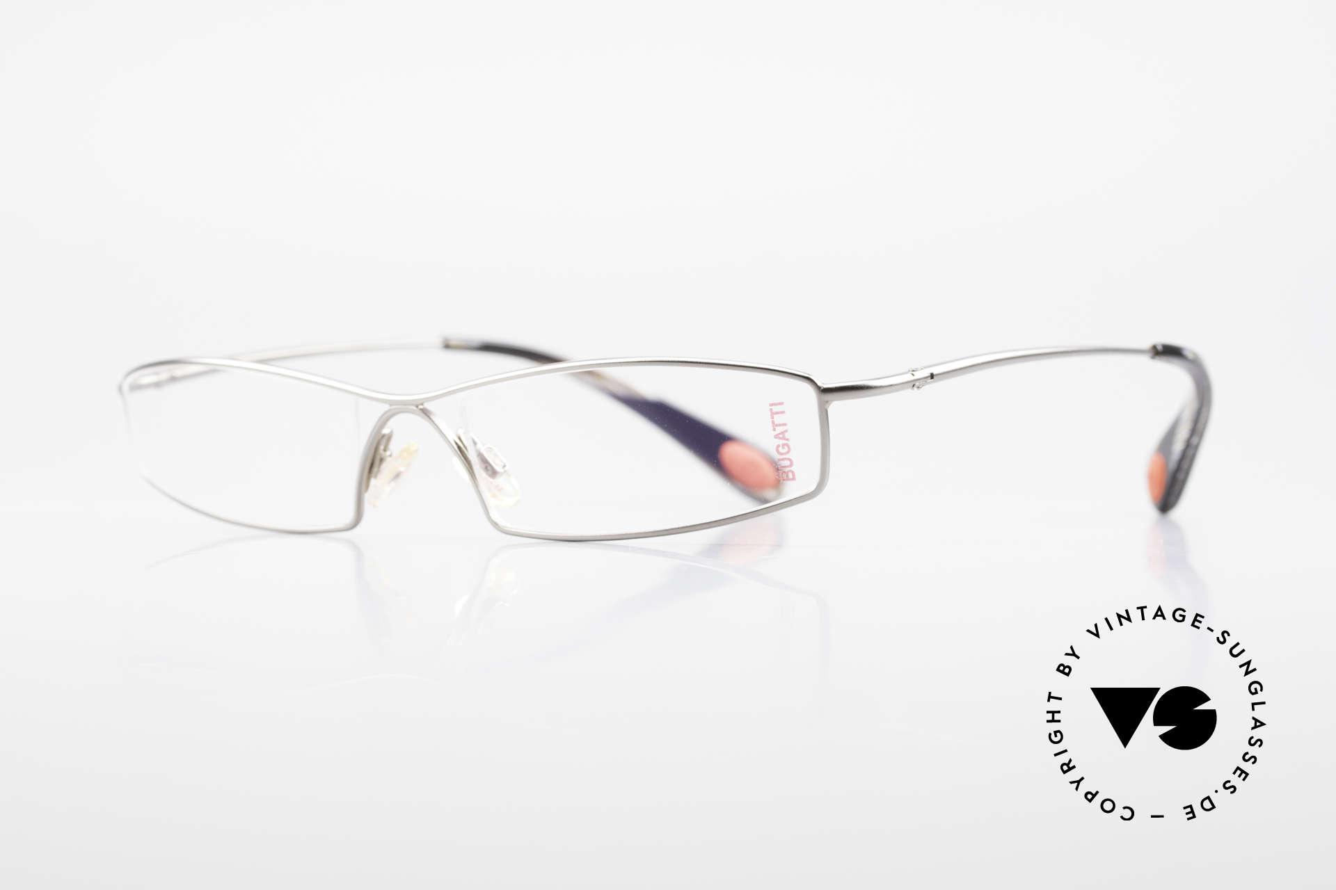 Bugatti 204 Odotype Vintage Luxus Brille Limited, high-tech Rahmen mit genialer Glaseinfassung, Passend für Herren