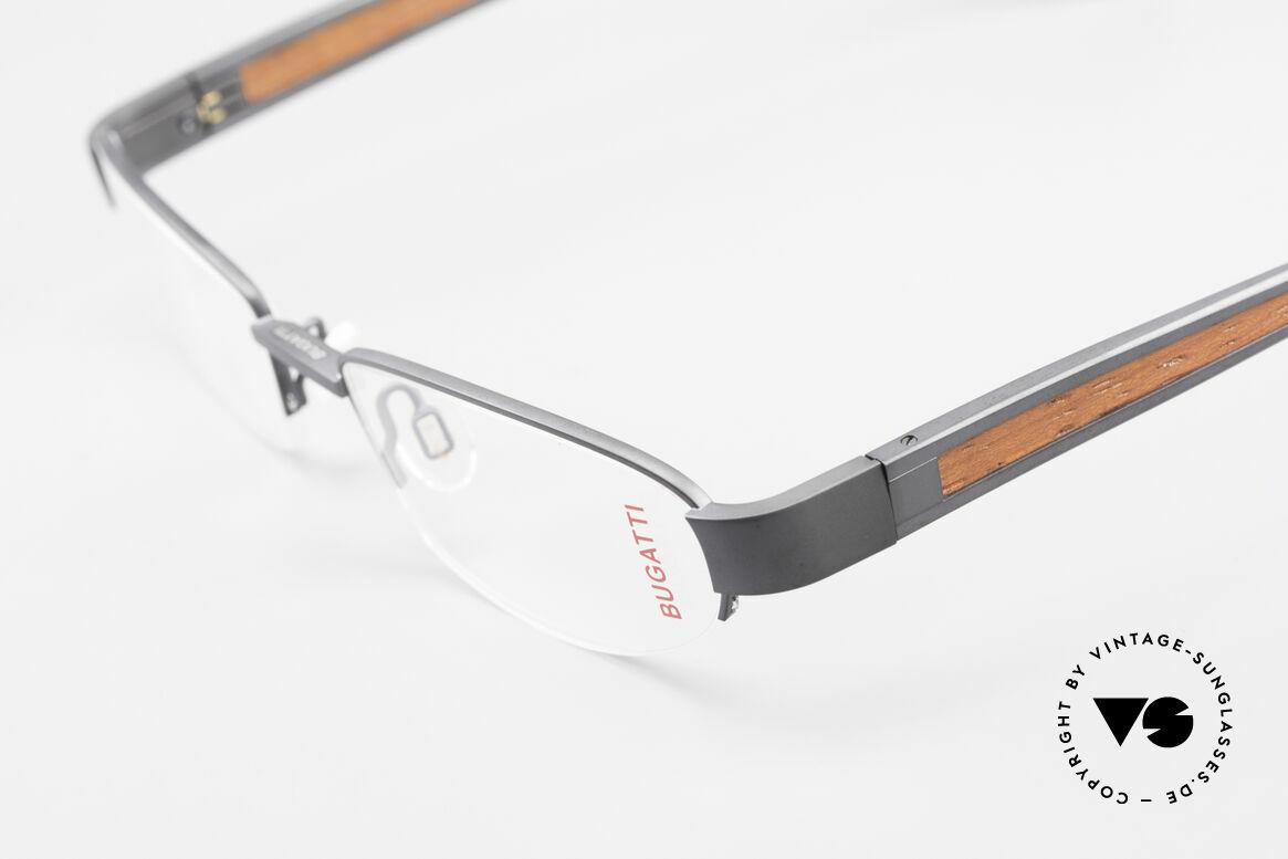 Bugatti 520 Padouk Edelholz Titanbrille, absolutes Spitzen-Produkt in Design & Verarbeitung, Passend für Herren