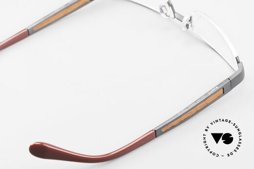 Bugatti 520 Padouk Edelholz Titanbrille, Größe: medium, Passend für Herren