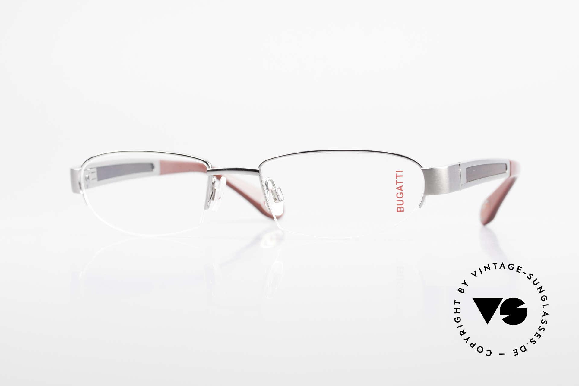 Bugatti 520 Ebenholz Brille Ruthenium, BUGATTI LUXUS-Brille 520 in unfassbarer Qualität, Passend für Herren