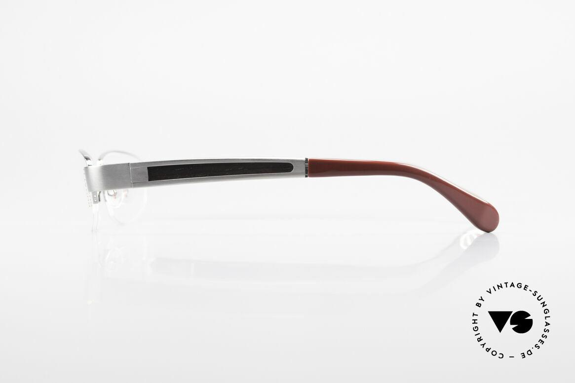 Bugatti 520 Ebenholz Brille Ruthenium, flexible Federscharniere für eine optimale Passform, Passend für Herren