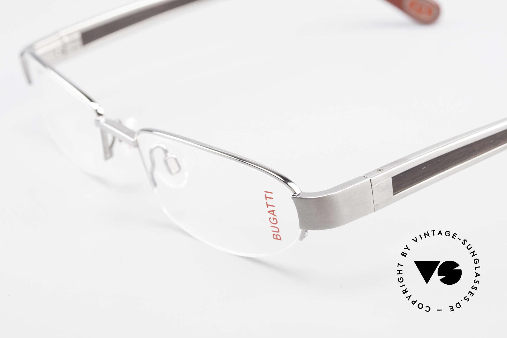 Bugatti 520 Ebenholz Brille Ruthenium, absolutes Spitzen-Produkt in Design & Verarbeitung, Passend für Herren