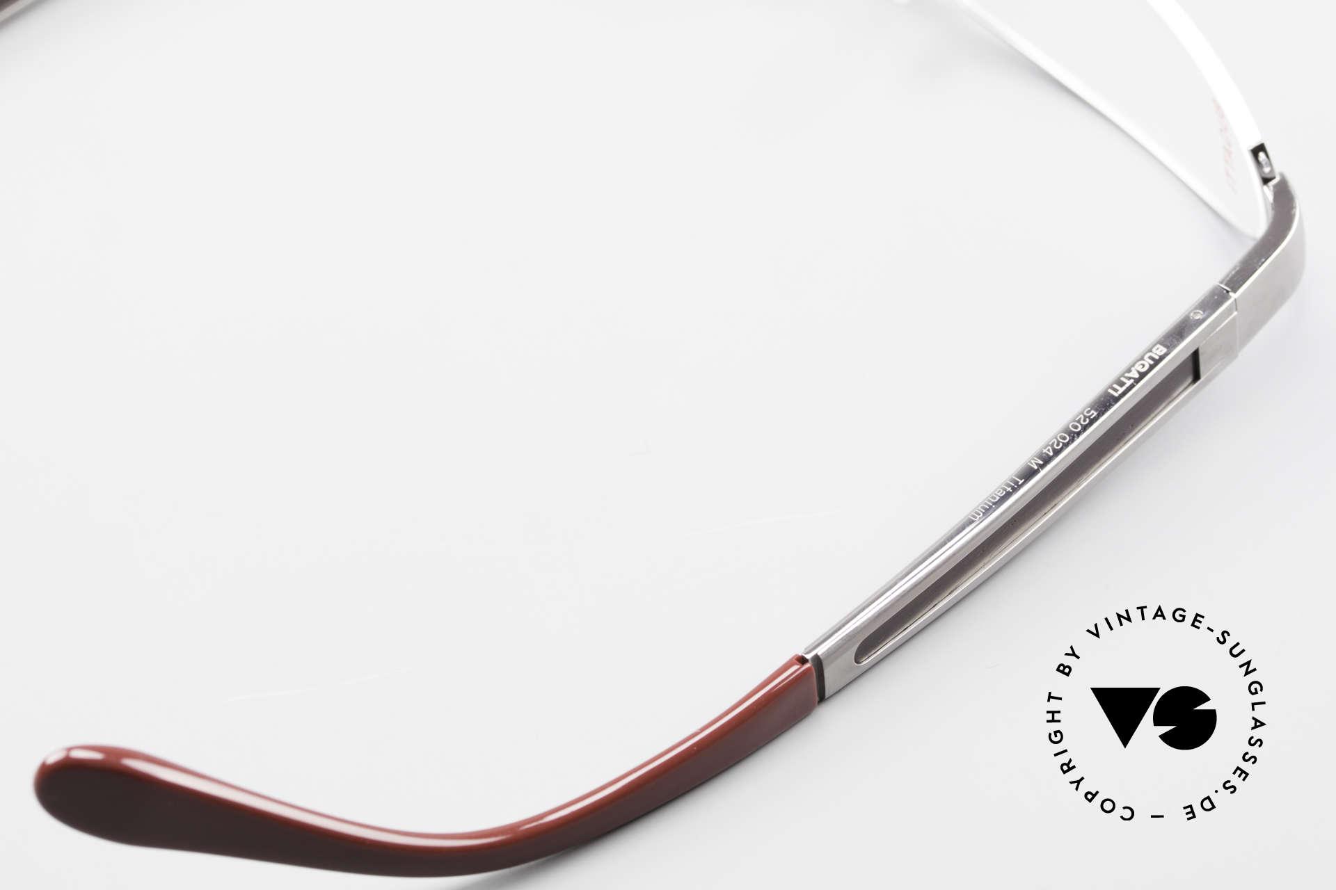 Bugatti 520 Ebenholz Brille Ruthenium, Größe: medium, Passend für Herren