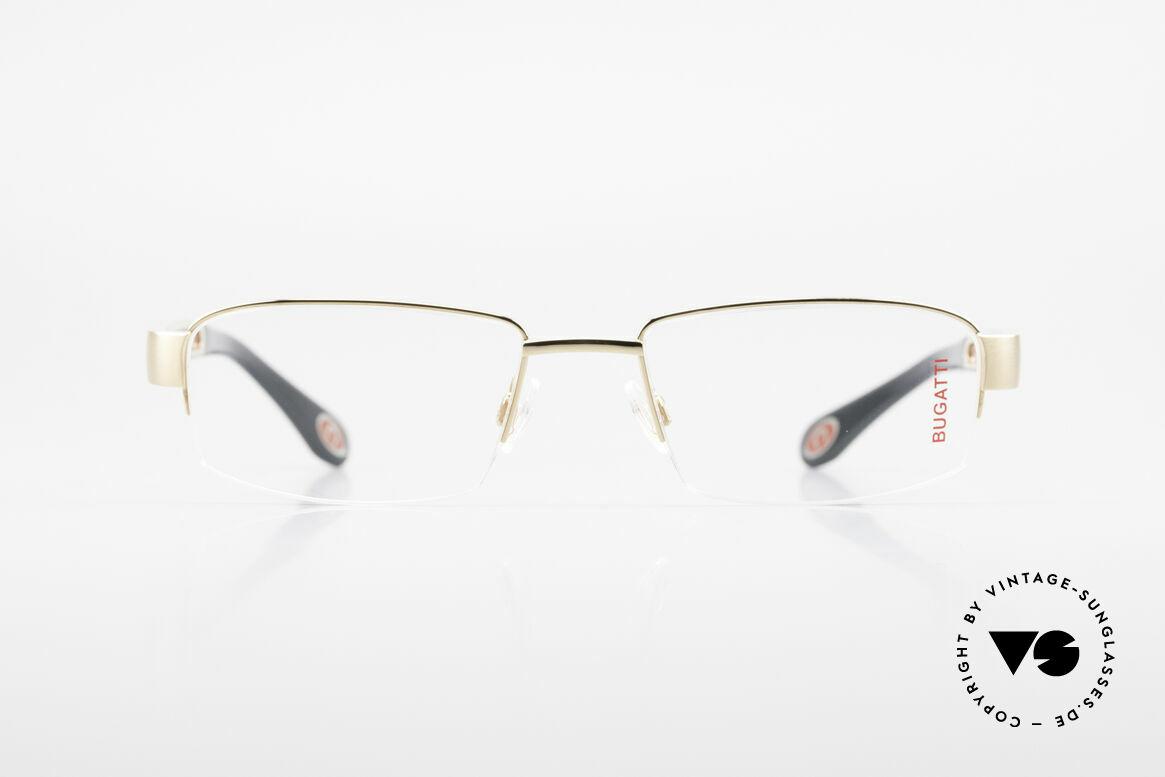 Bugatti 521 Padouk Edelholz Gold Brille, Titanium-Fassung (LARGE Größe) ist 22kt vergoldet, Passend für Herren