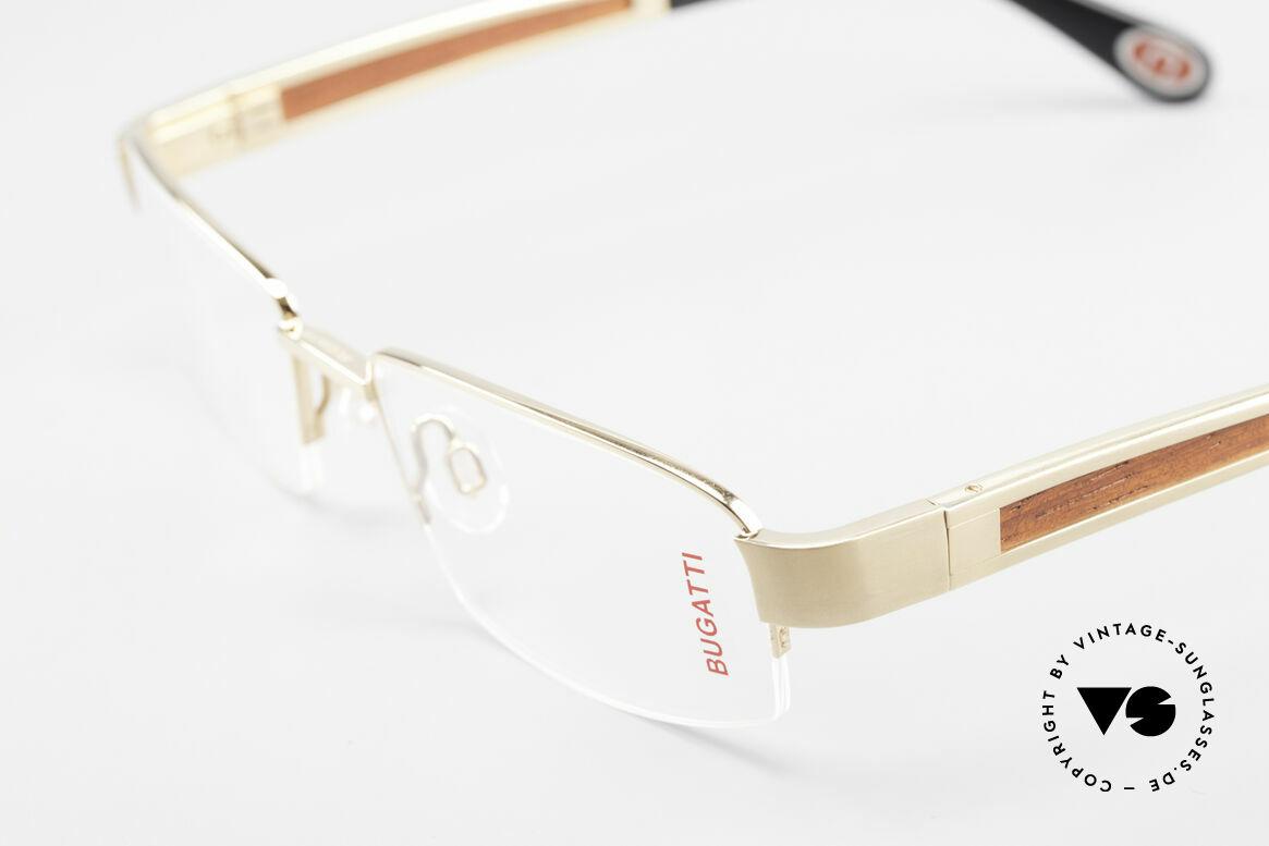 Bugatti 521 Padouk Edelholz Gold Brille, absolutes Spitzen-Produkt in Design & Verarbeitung, Passend für Herren