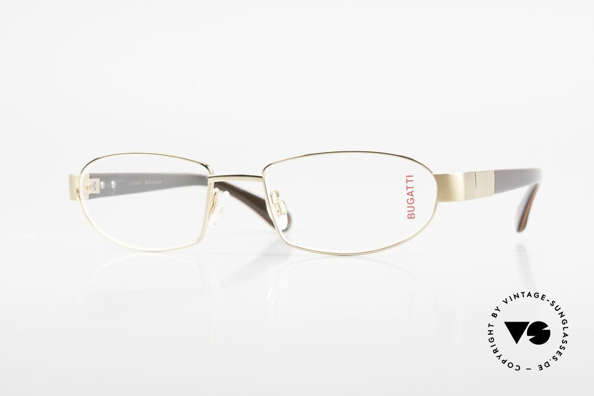 Bugatti 527 Vergoldete Titanium Brille, BUGATTI LUXUS-Brille 527 in unfassbarer Qualität, Passend für Herren
