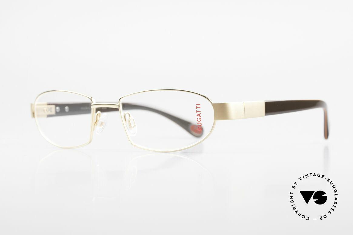 Bugatti 527 Vergoldete Titanium Brille, LIMITED EDITION: gab's damals nur als Kleinstserie, Passend für Herren