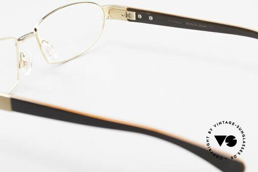 Bugatti 527 Vergoldete Titanium Brille, Größe: medium, Passend für Herren