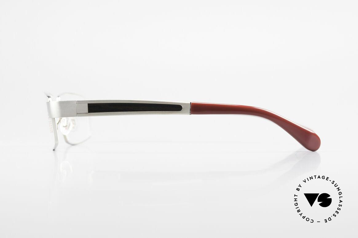 Bugatti 522 Palladium Ebenholz Titanbrille, flexible Federscharniere für eine optimale Passform, Passend für Herren