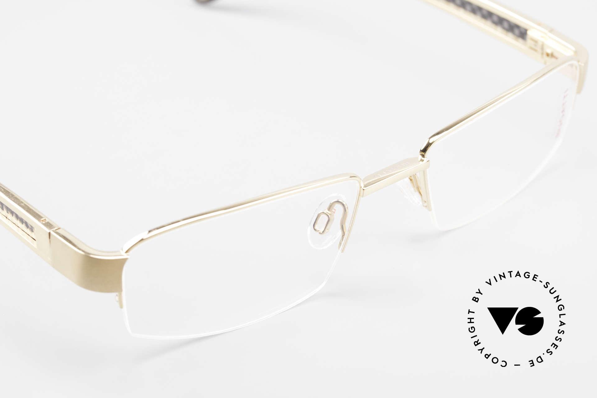 Bugatti 524 Carbon Titanium Gold Brille, ungetragenes Luxus-Modell; eine Rarität für Kenner, Passend für Herren