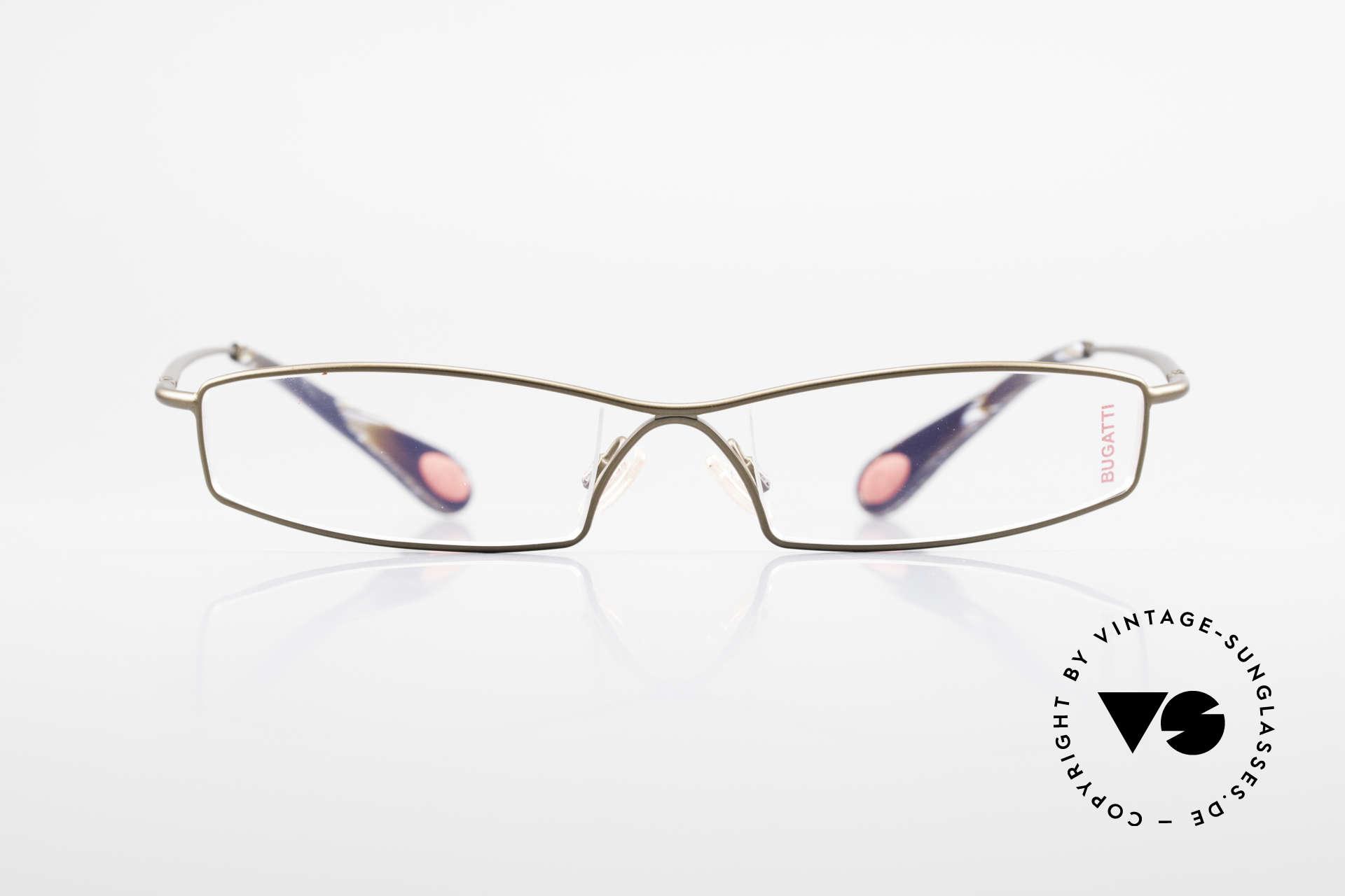 Bugatti 204 Odotype Limited Vintage Luxus Brille, Kleinserie markant männlicher Brillendesigns, Passend für Herren