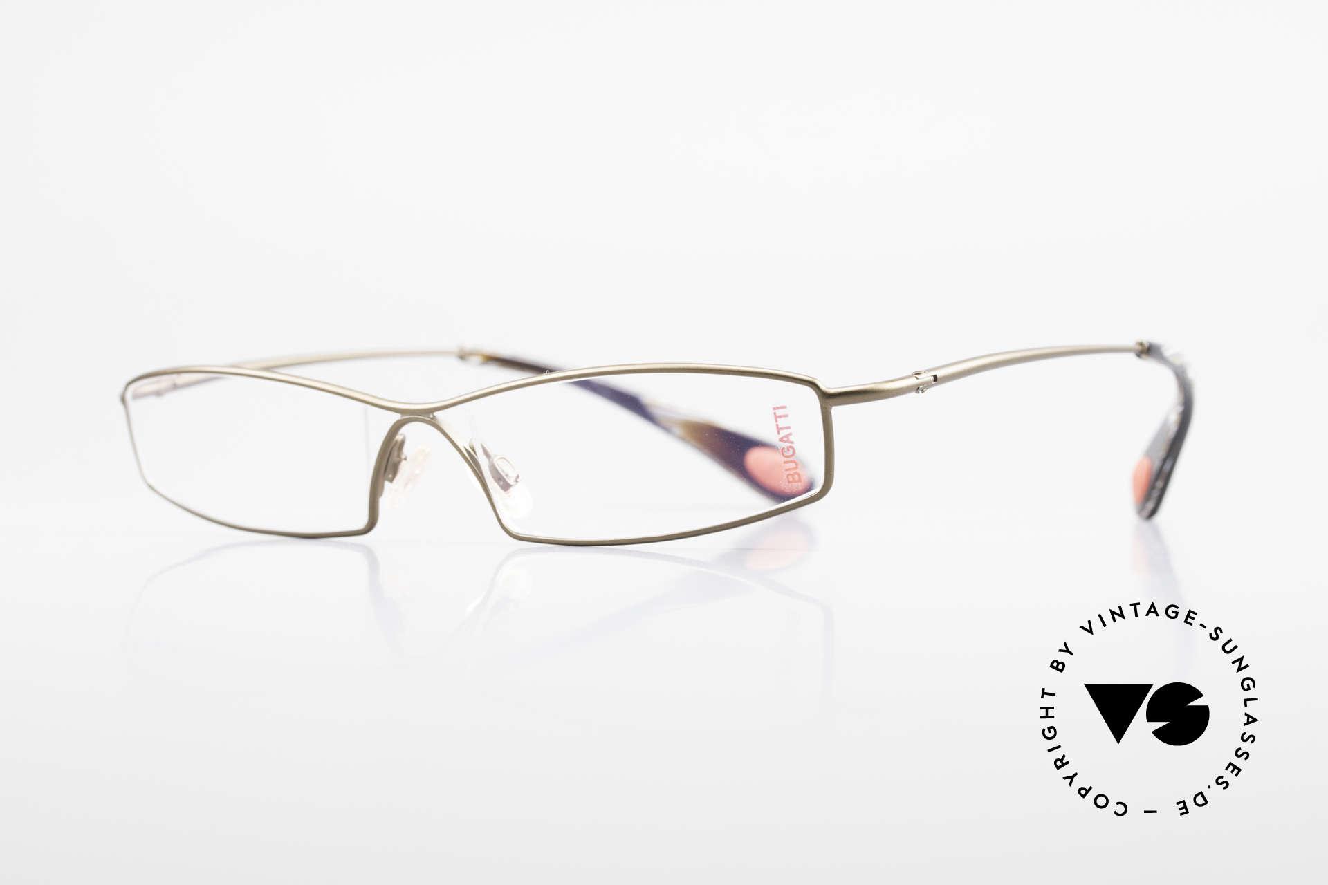 Bugatti 204 Odotype Limited Vintage Luxus Brille, high-tech Rahmen mit genialer Glaseinfassung, Passend für Herren