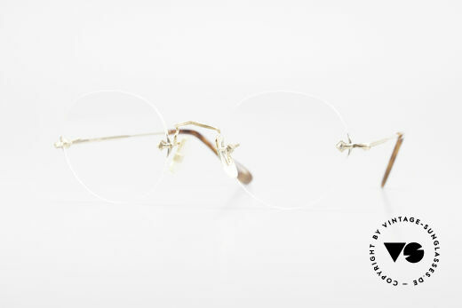 Savile Row Rimless 47/20 Randlose 14k Gold Filled Brille Details