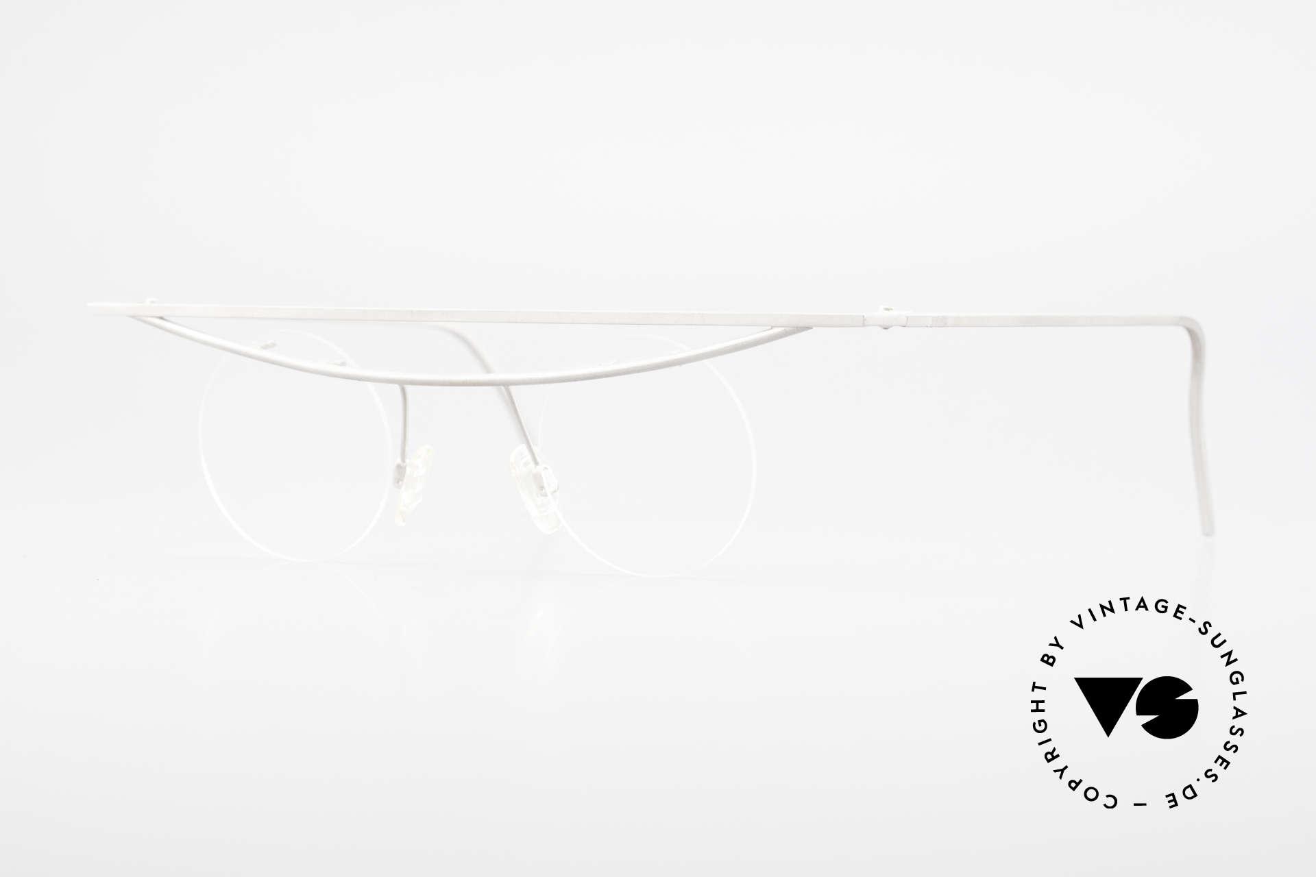 B. Angeletti Cesna Vintage Architekten Brille XL, kostbare vintage Brillenfassung von Barbara ANGELETTI, Passend für Herren und Damen