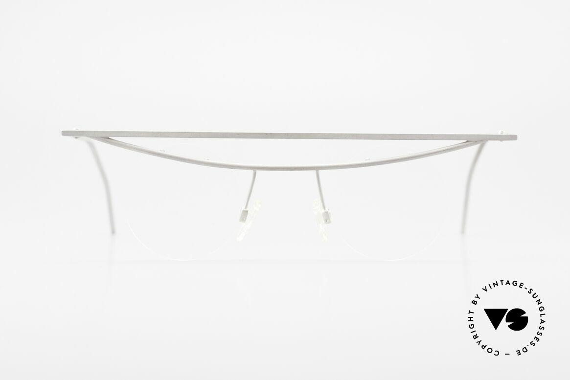 """B. Angeletti Cesna Vintage Architekten Brille XL, extrem seltene """"Architekten"""" Designer-Fassung von 1992, Passend für Herren und Damen"""