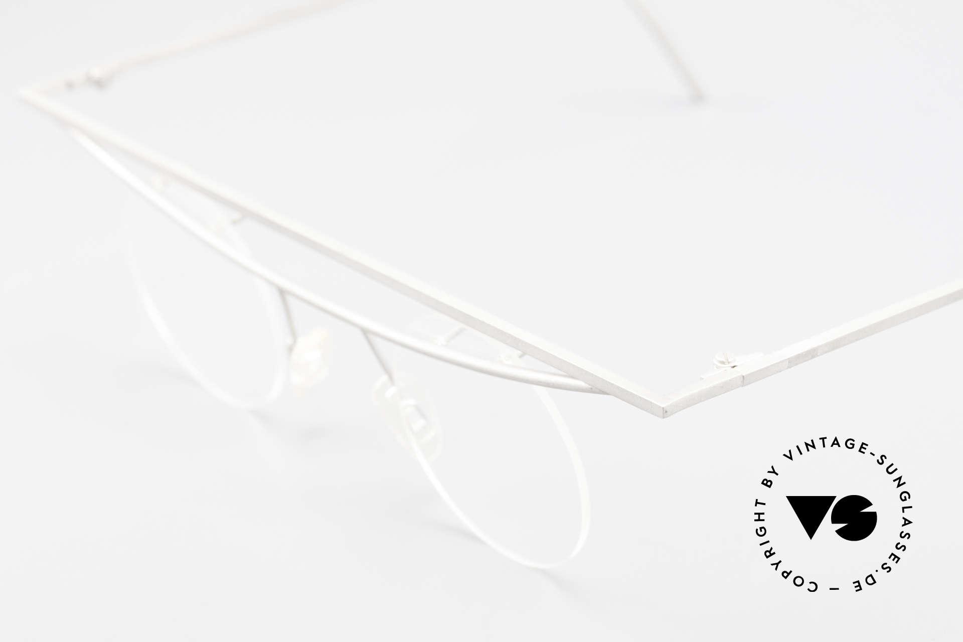 B. Angeletti Cesna Vintage Architekten Brille XL, absolute Rarität in Handarbeit gefertigt; Sammlerstück!, Passend für Herren und Damen