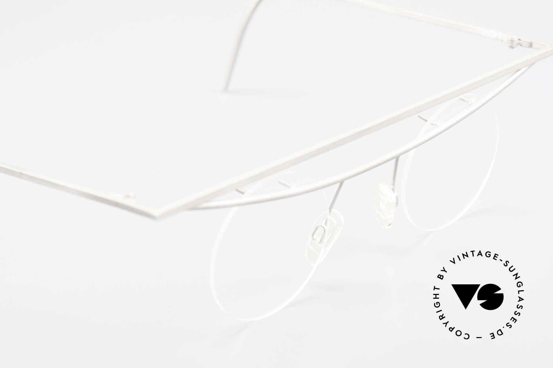 B. Angeletti Cesna Vintage Architekten Brille XL, intellektuelles Design für Individualisten, BAUHAUS Stil, Passend für Herren und Damen