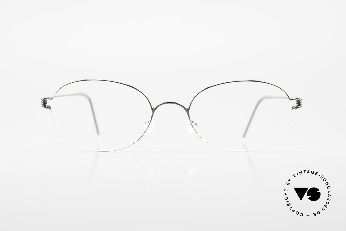 Lindberg Galar Air Titan Rim Ovale Titanium Brille Unisex, LINDBERG Air Titanium Rim Brille in Größe 52-19, 145, Passend für Herren und Damen