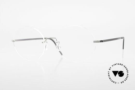 Lindberg 2333 Spirit Titan Runde Randlose Titanium Brille Details