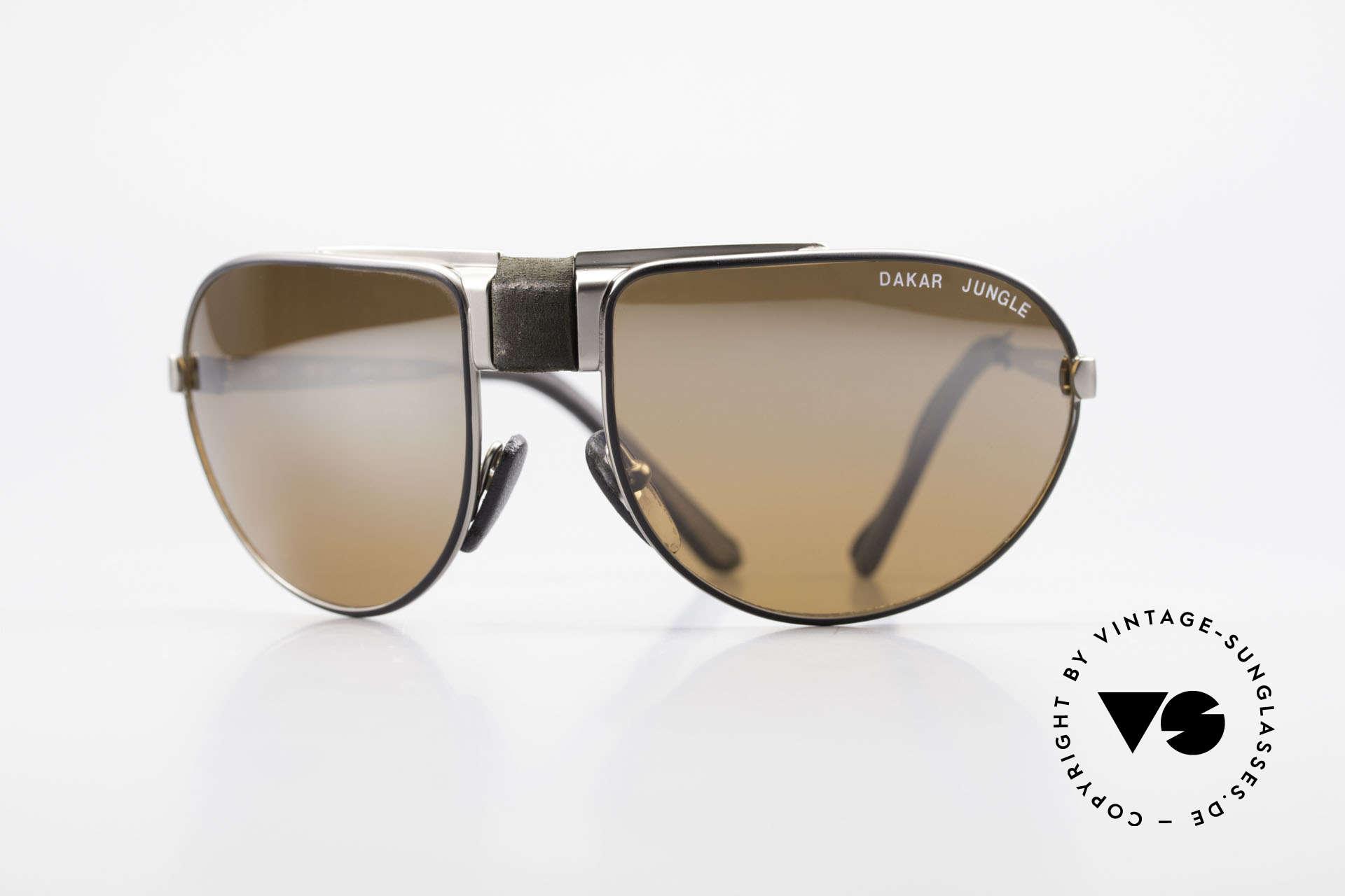 Cebe Dakar Jungle QD02 High-Tech Rennfahrer Brille, vintage Cebe Sportbrille für den extremen Einsatz, Passend für Herren und Damen