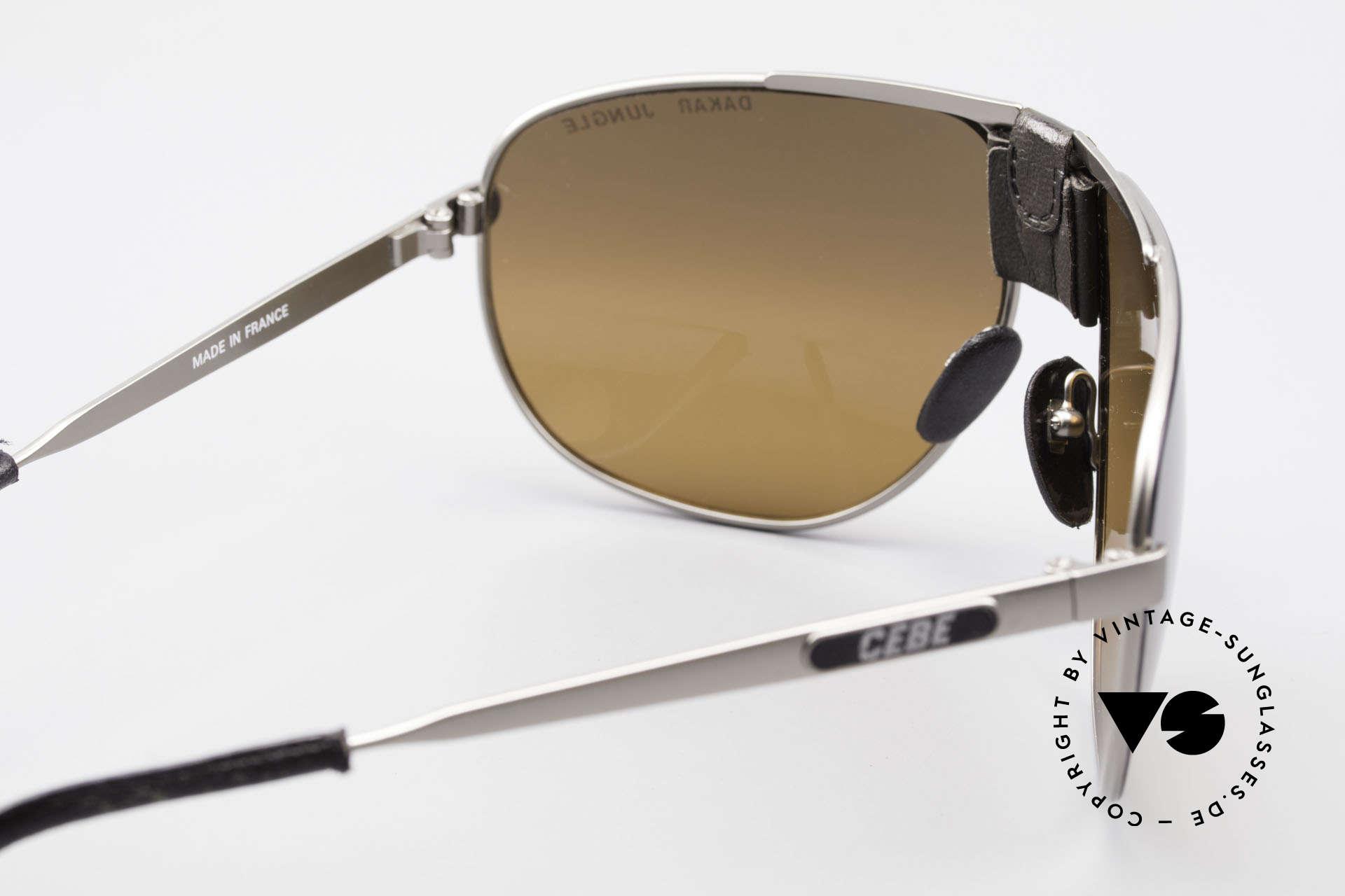 Cebe Dakar Jungle QD02 High-Tech Renn Sonnenbrille, ein 30 Jahre altes Original; Leder blättert leicht ab, Passend für Herren und Damen