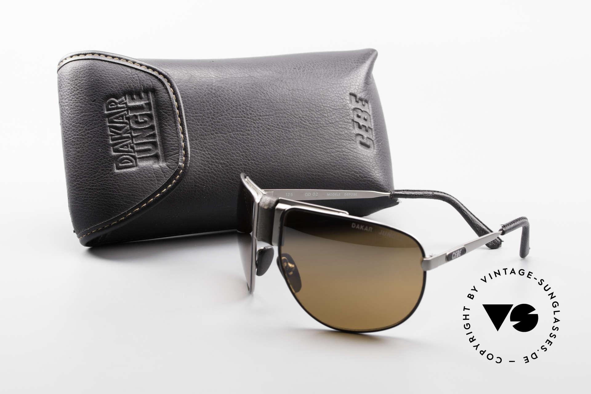 Cebe Dakar Jungle QD02 High-Tech Renn Sonnenbrille, Größe: small, Passend für Herren und Damen