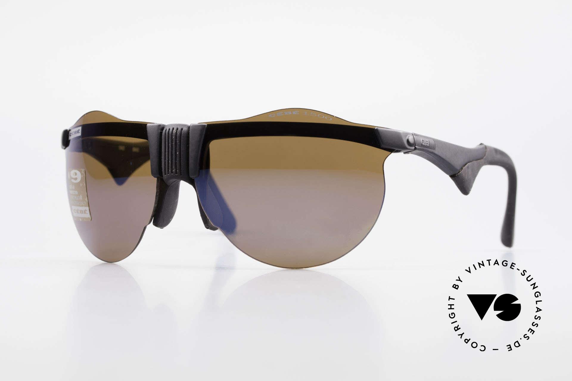 Cebe 1943 Alte Rennfahrer Sonnenbrille, vintage CEBE Sportbrille für den extremen Einsatz, Passend für Herren und Damen
