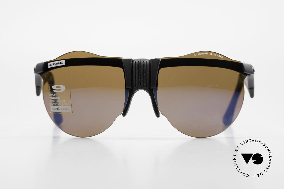 Cebe 1943 Alte Rennfahrer Sonnenbrille, für die Fahrer der Rallye 'PARIS-DAKAR' entwickelt, Passend für Herren und Damen
