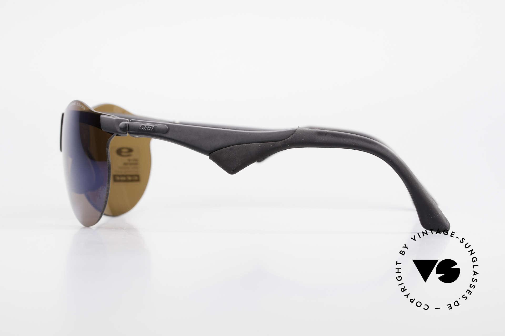 Cebe 1943 Alte Rennfahrer Sonnenbrille, mit Impact-Sonnengläsern (optische Spitzenqualität), Passend für Herren und Damen