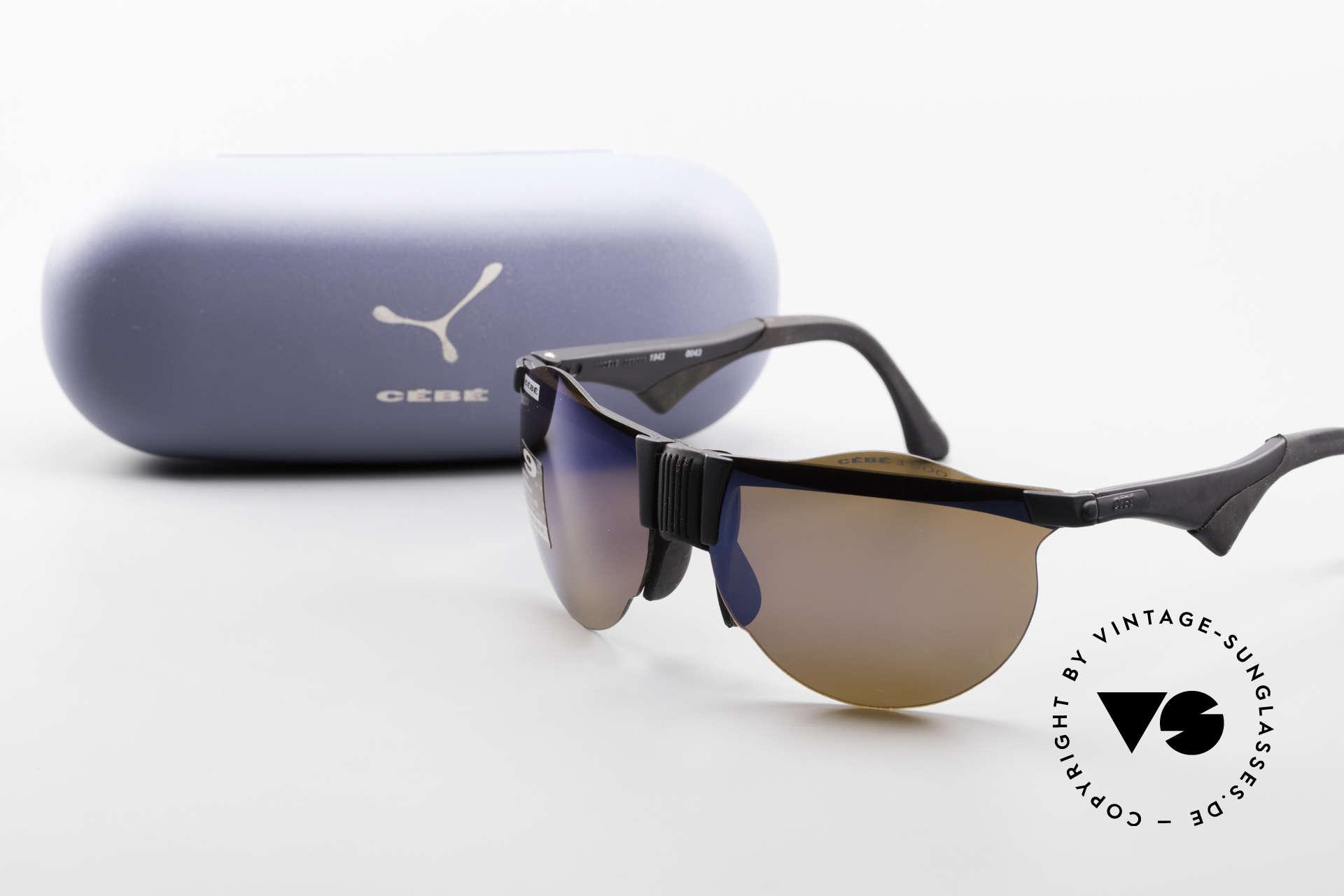 Cebe 1943 Alte Rennfahrer Sonnenbrille, Größe: extra small, Passend für Herren und Damen