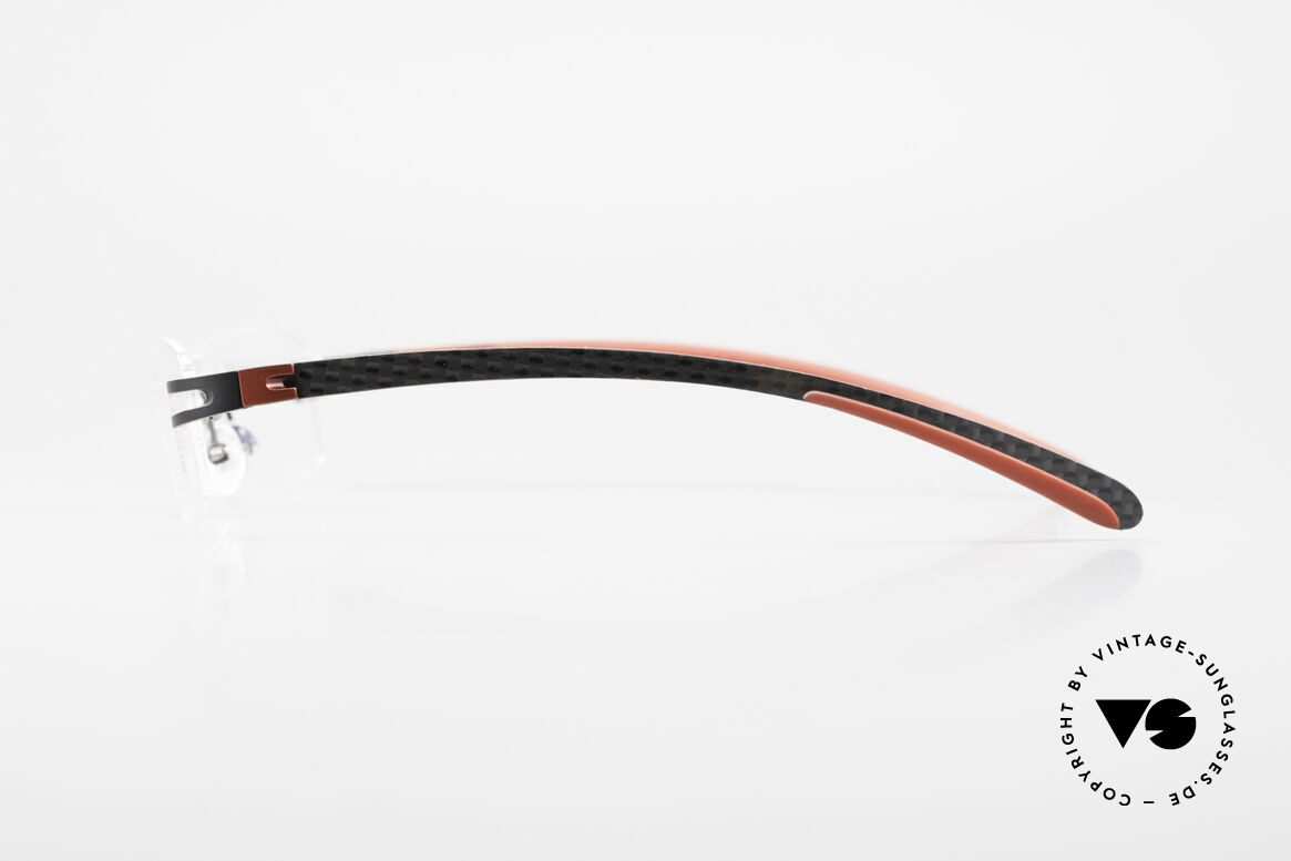 Bugatti 464 Randlose Luxus Brille Carbon, herausragende Qualität mit Carbon-Komponenten, Passend für Herren