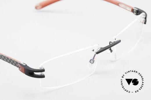 Bugatti 464 Randlose Luxus Brille Carbon, KEIN RETRO; ein kostbares ORIGINAL in Gr. 56/16, Passend für Herren