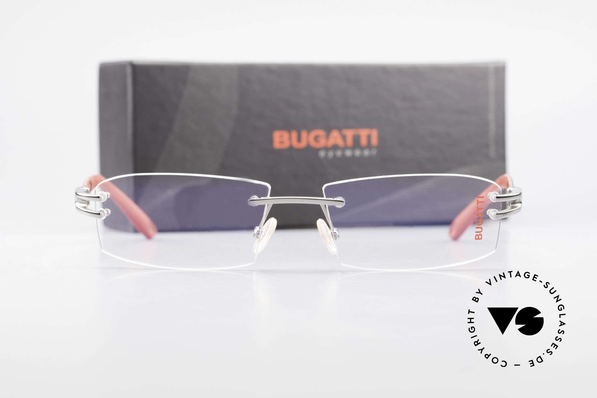 Bugatti 464 Randlose Fassung Ruthenium, Größe: medium, Passend für Herren