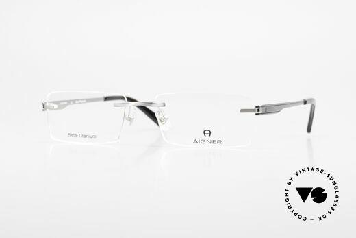 Aigner EA1023 Randlose Vintage Brille Titan Details