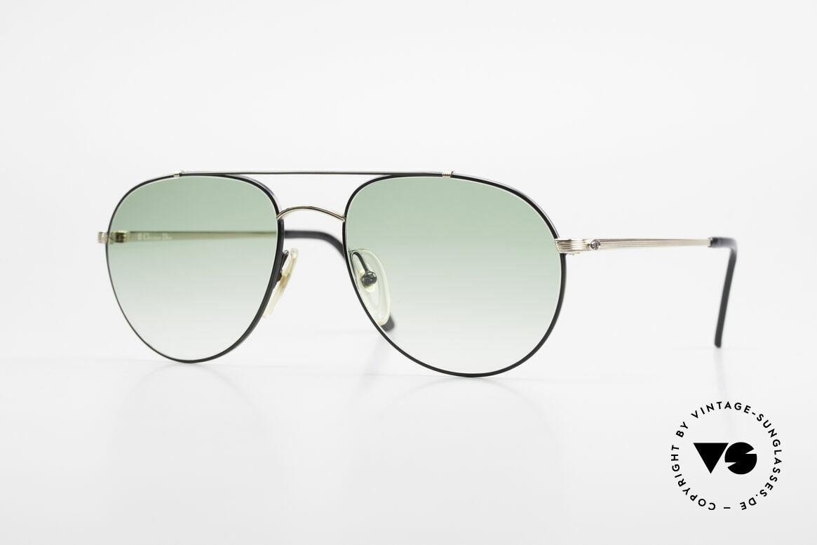 Christian Dior 2488 Alte 80er Pilotensonnenbrille, seltenes Piloten-Brillendesign von Christian Dior, Passend für Herren