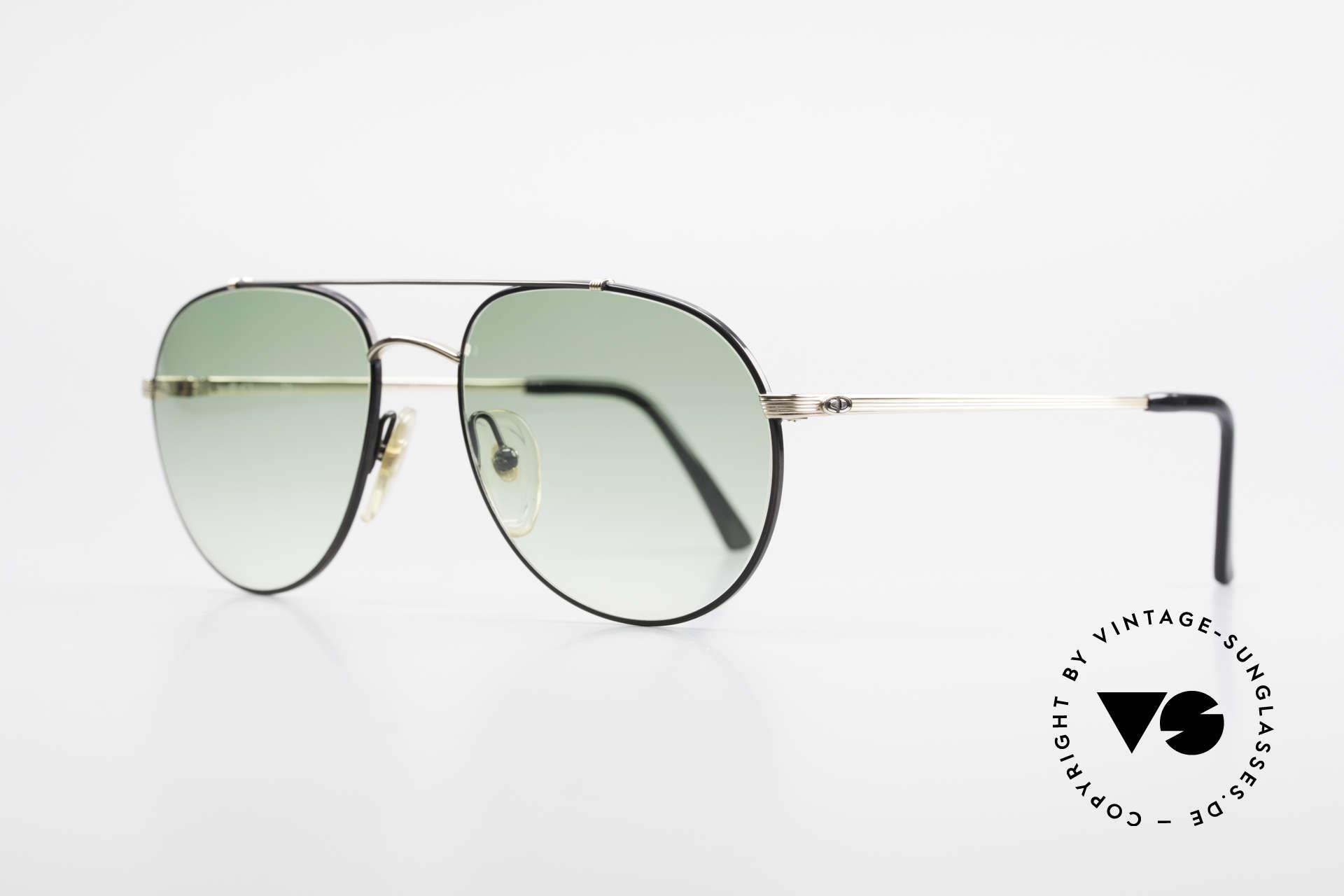 Christian Dior 2488 Alte 80er Pilotensonnenbrille, edle Gläser in grün-Verlauf für 100% UV Schutz, Passend für Herren