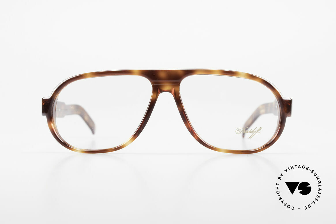 Davidoff 100 90er Herren Vintage Brille, ein 90er Jahre Original in zeitloser Schildpatt-Optik, Passend für Herren