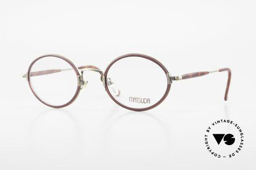 Matsuda 2834 Rund Ovale 90er Luxus Brille Details