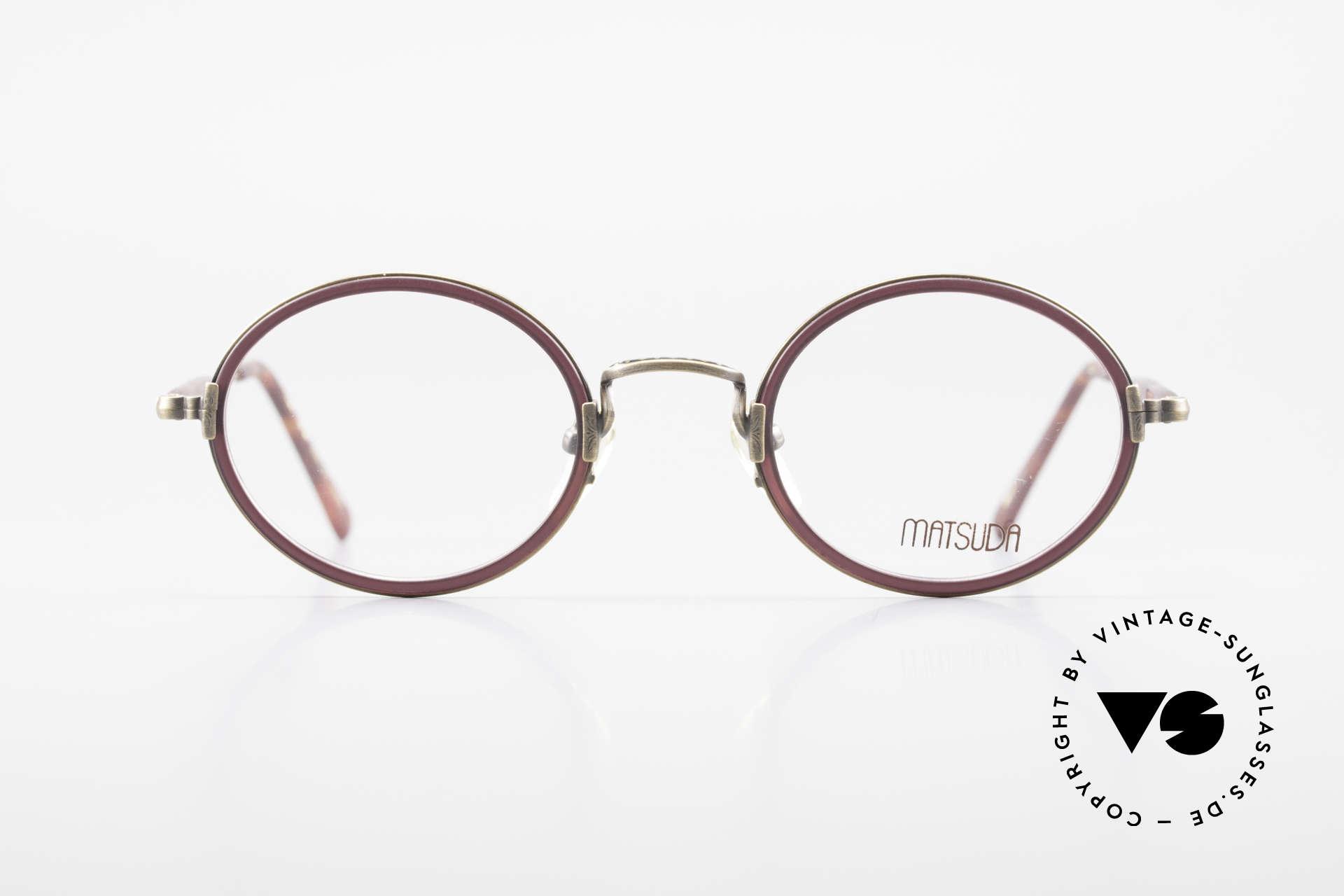 Matsuda 2834 Rund Ovale 90er Luxus Brille, MATSUDA: ein Synonym für aufwändige Handwerkskunst, Passend für Herren und Damen