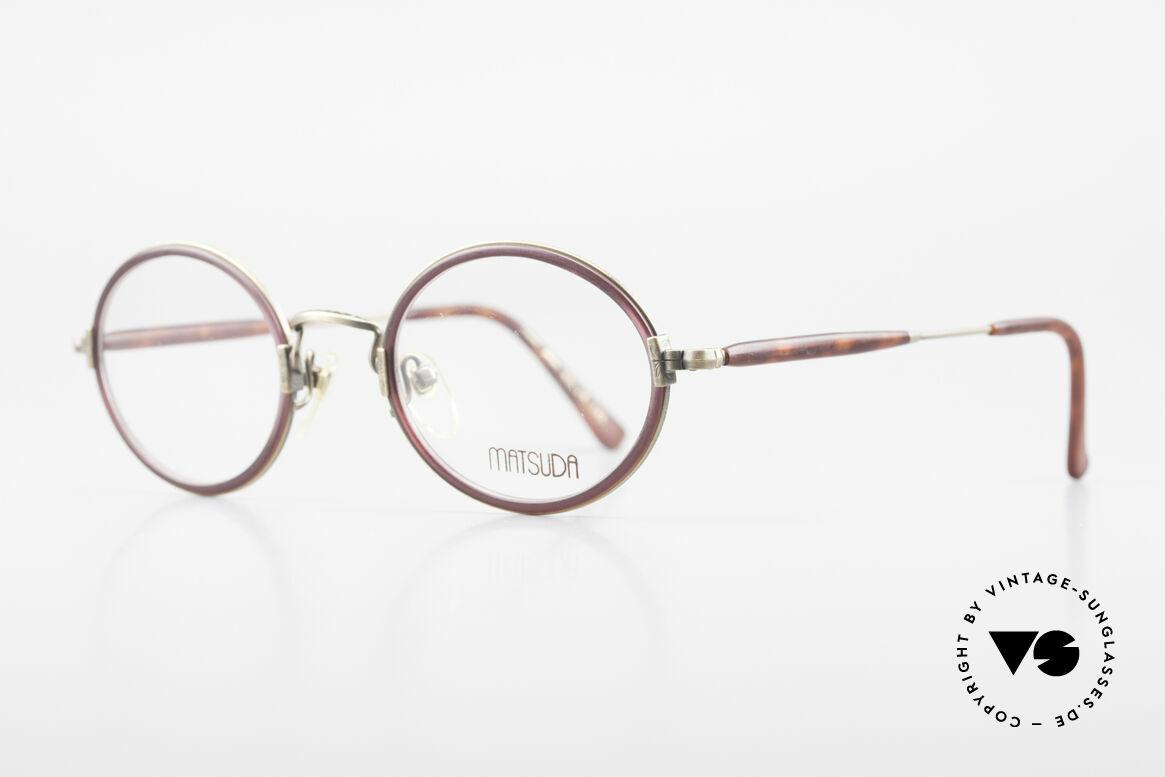 Matsuda 2834 Rund Ovale 90er Luxus Brille, unter Kennern längst geschätzt & entsprechend begehrt, Passend für Herren und Damen