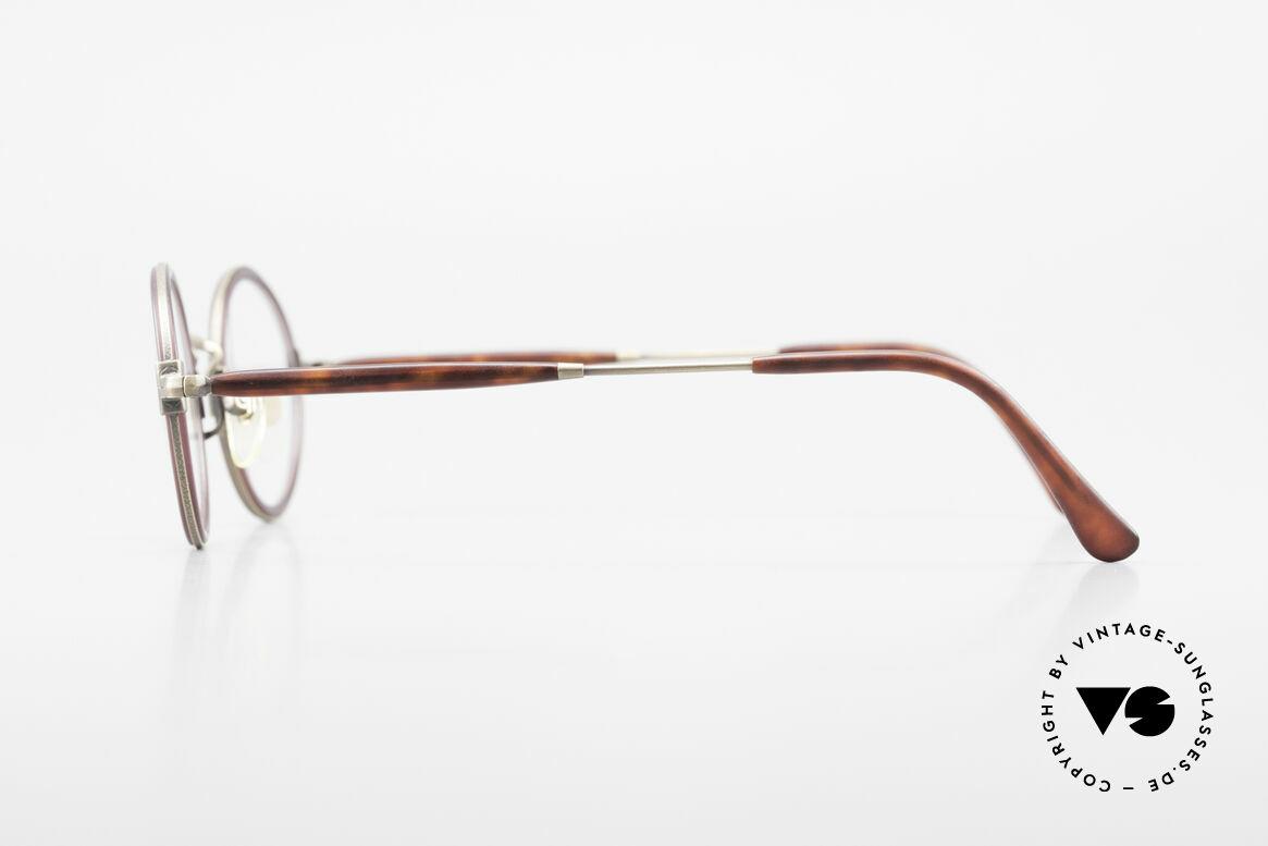 Matsuda 2834 Rund Ovale 90er Luxus Brille, ungetragenes EINZELSTÜCK für alle Qualitäts-Liebhaber, Passend für Herren und Damen