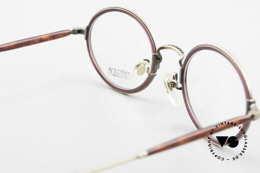 Matsuda 2834 Rund Ovale 90er Luxus Brille, KEINE Retromode, sondern ein 25 Jahre altes ORIGINAL!, Passend für Herren und Damen